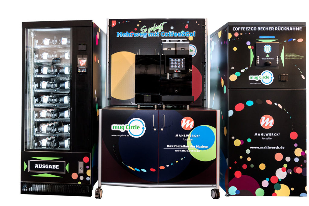 Coffee to Go reusable system with deposit return