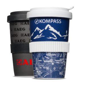 Original Coffee to Go Becher aus Porzellan mit kratzfestem Druck