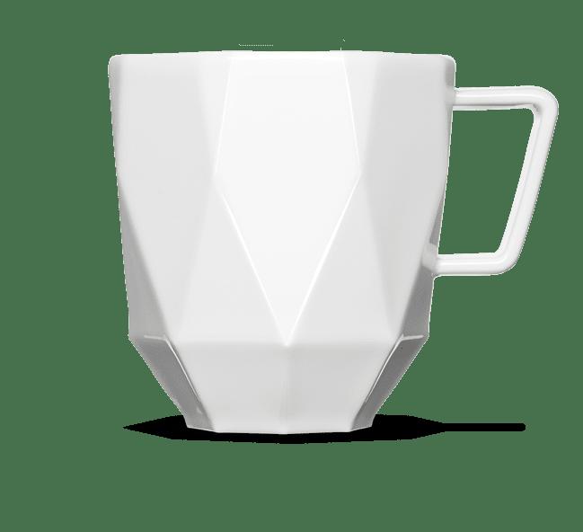 Die neue Porzellan Tasse Poly zum Bedrucken und Gravieren