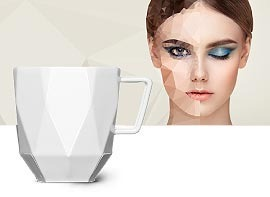Webspecial to the polygon cup made of porcelain
