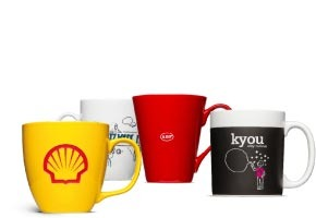 Cups durable and scratch resistant: logo print on mug