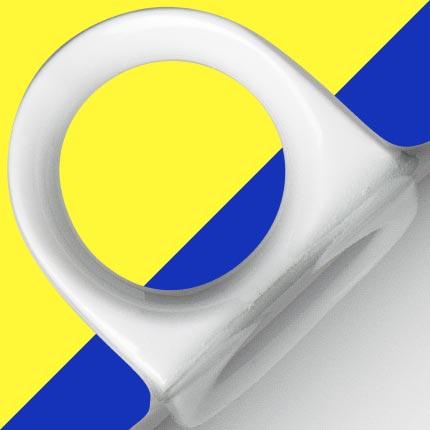 Detail Tasse Joonas im skandinavischen Design von Mahlwerck Porzellan
