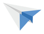 Paper plane leads you to the newsletter