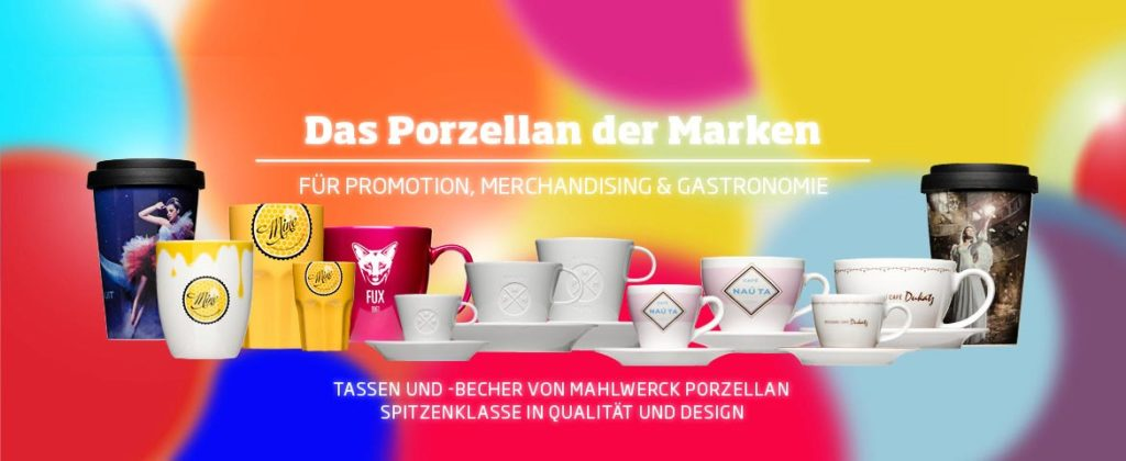 The porcelain of the brands for traders - Mahlwerck - cups and mugs