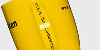 Yellow pages cup-with-handle pressure