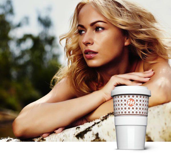 Alternative to plastic - the coffee to go mug made of porcelain