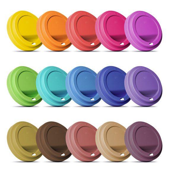 Deckel in individuellen Farben und Sonderanfertigungen Coffee to Go