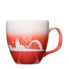 Köln Tasse mit Farbverlauf und Logo-Gravur - Jumbotasse Form 151
