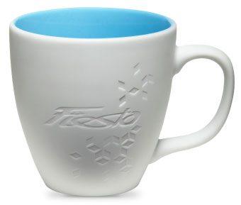 Coffee cup with ceramic glaze inside