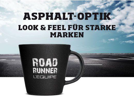Cup asphalt look for strong brands