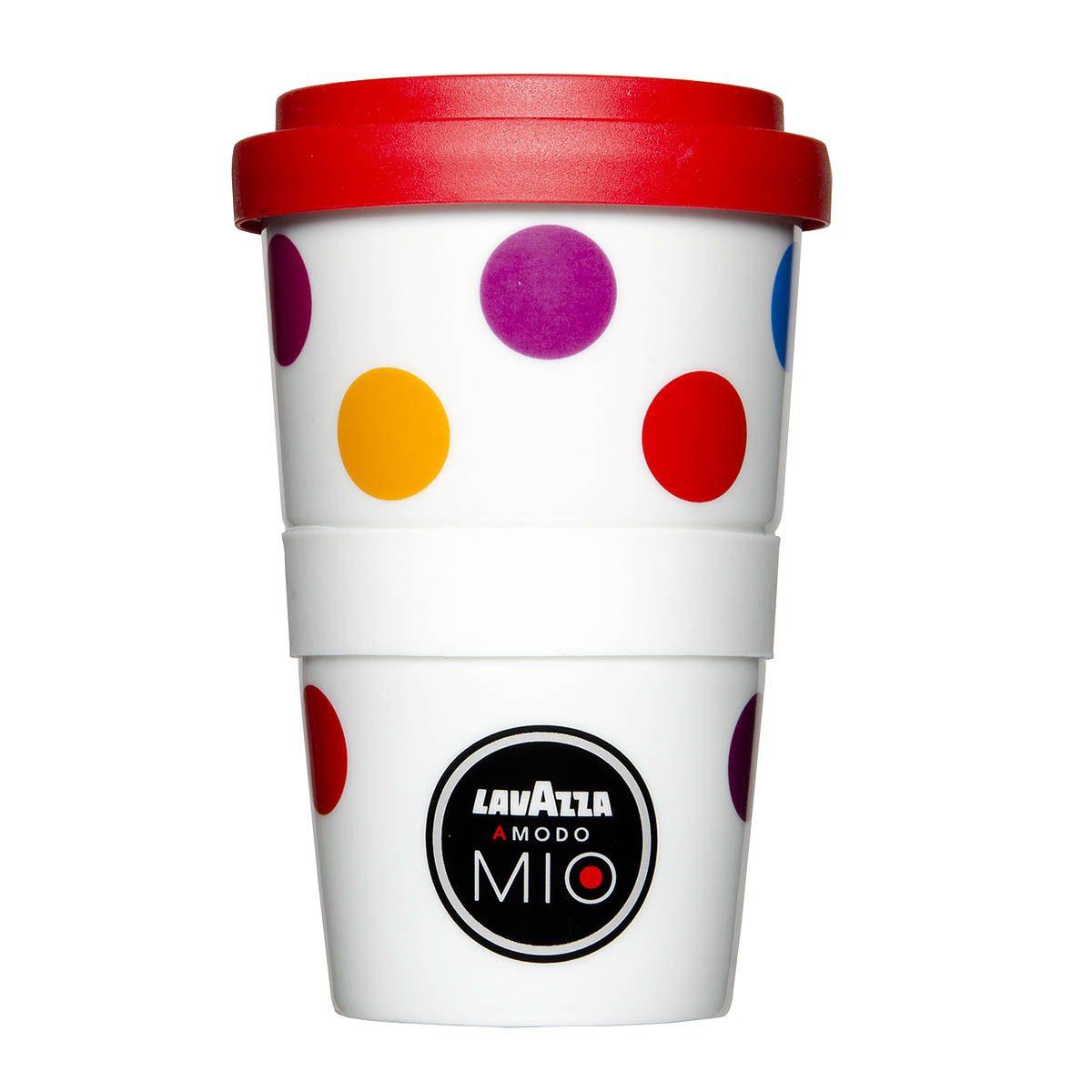 Coffee to Go Becher bedrucken - Lavazza Logo von Mahlwerck Porzellan