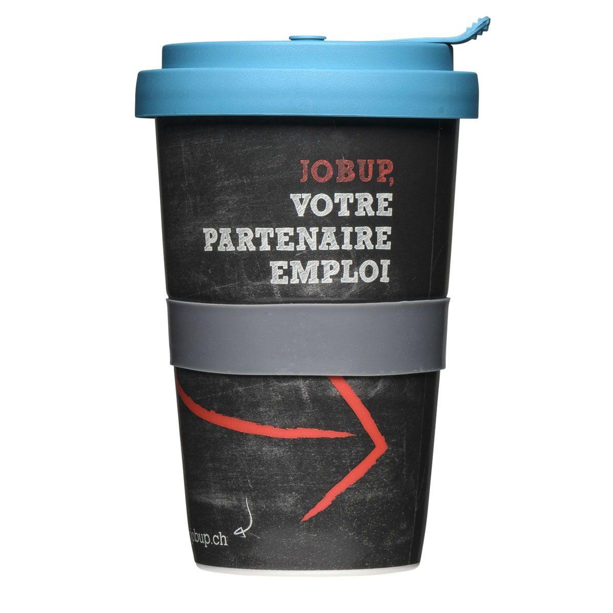 Coffee2Go Becher bedrucken mit Spezial Deckel - Mahlwerck Porzellan Werbeartikel
