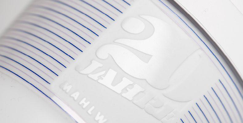 Logo engraving with deco print on porcelain cups - Mahlwerck porcelain