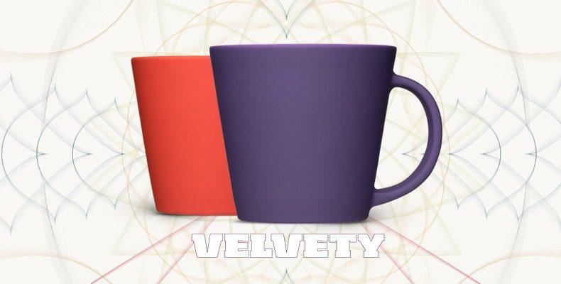 Velvety - weiche Oberfläche für Porzellan und Tassen