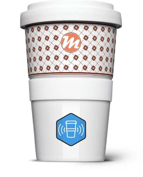 Coffee2Go mit RFID Chip - Mahlwerck Porzellan