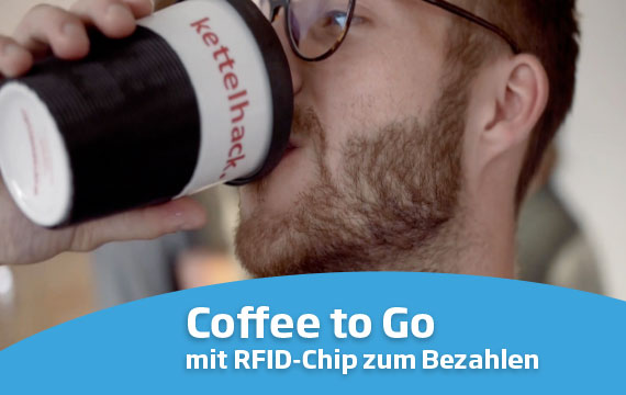 Coffee to Go mug with RFID chip for payment - Mahlwerck porcelain
