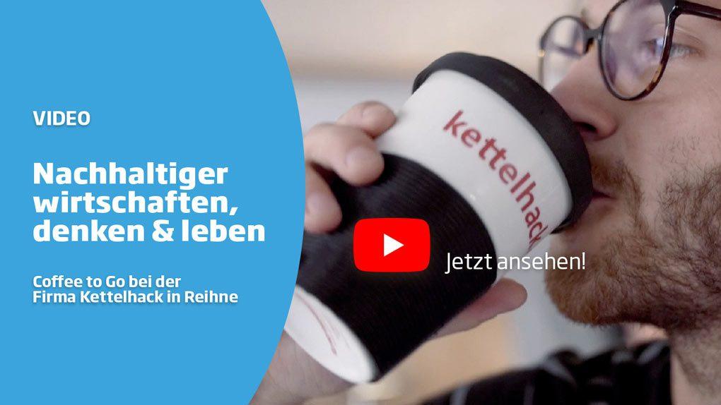 Nachhaltigkeitsbotschaft mit dem Coffee to Go Becher aus Porzellan