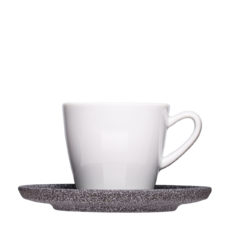 Coffee cup with granite saucer for engraving - Mailwerck porcelain