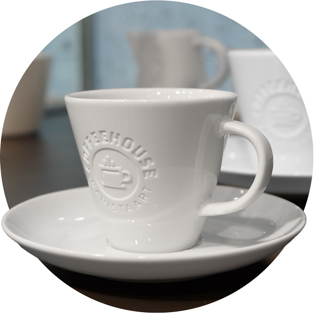 Catering tableware series with engraving - Mahlwerck porcelain