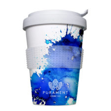 Coffee to Go reusable cup with motif in offset quality - Mahlwerck porcelain