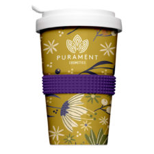 Individually designed reusable cup to go with logo - Mahlwerck porcelain