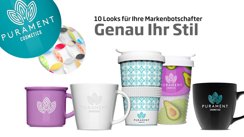Premium promotional items - cups and mugs from Mahlwerck Porzellan