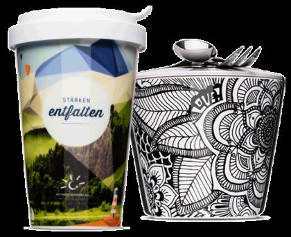 Coffee to go & Snack to go als Alternative für Plastik Einwegbecher