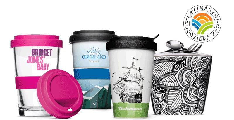 Ökologisch einwandfreie Mehrwegbecher statt Plastik-Einwegprodukte