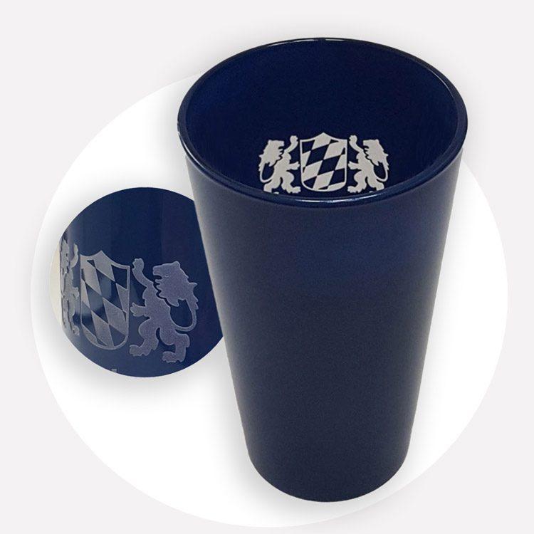 Glaser mit Logo Gravur - Mahlwerck Werbeartikel