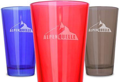 Gravierte Gläser mit Logo in vielen Farben - Mahlwerck Werbeartikel