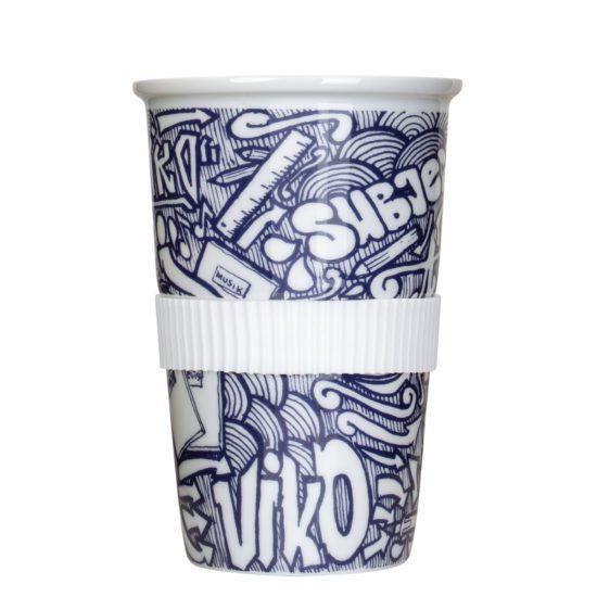 Tea to go Becher mit Graffiti bedruckt - Mahlwerck Porzellan