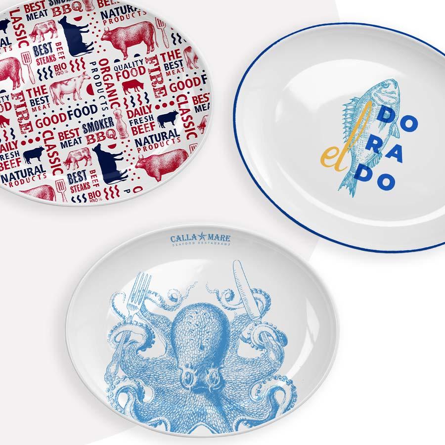 Great printed plates - Mahlwerck porcelain