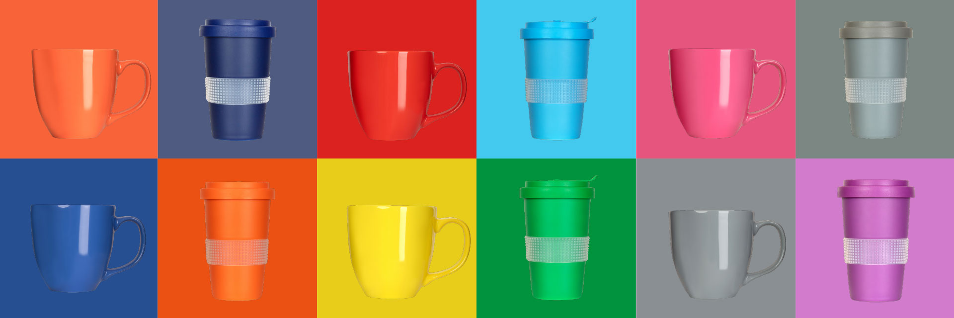 Cups and coffee to go mugs in trendy colors for summer 2021