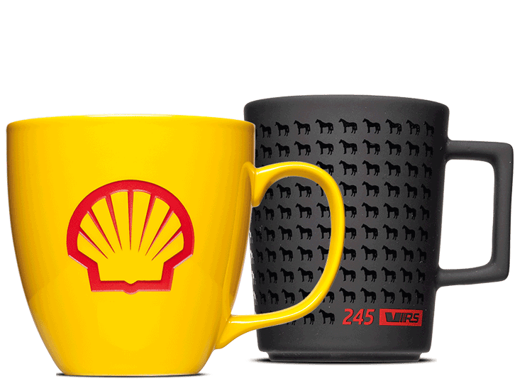 Have your logo printed on mugs - promotional items
