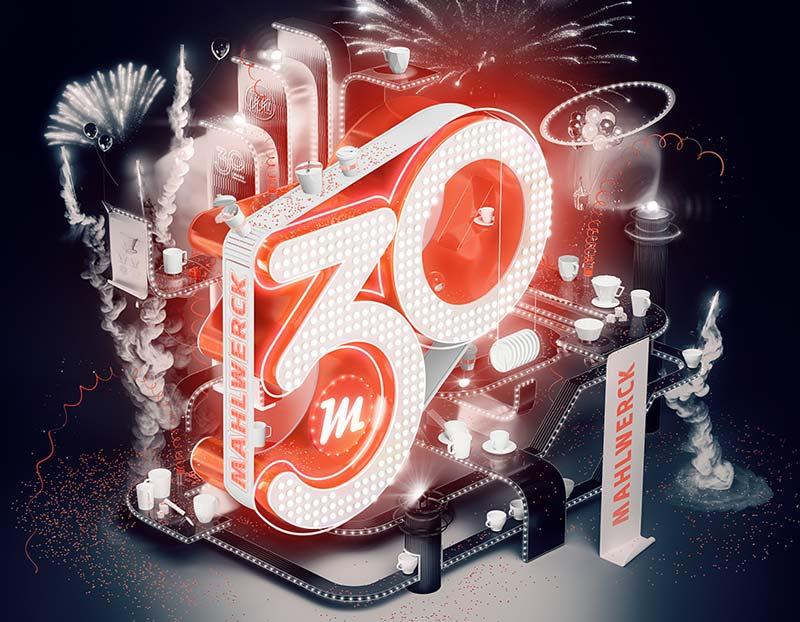 30 Jahre Mahlwerck Porzellan Manufaktur für Werbeporzellan