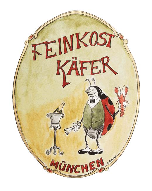 Tassen Motive 1991 Feinkost Käfer München von Heike Hamperl - Mahlwerck Porzellan