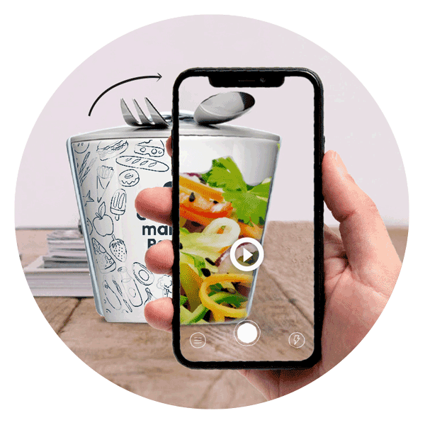 Promotional items with augmented reality - Mahlwerck porcelain