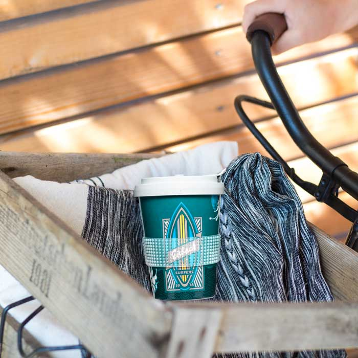 Coffee to go Mehrwegbecher Fahrrad - Mahlwerck Porzellan