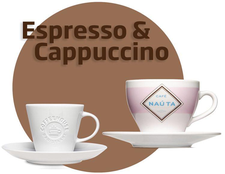 Print and engrave espresso & cappuccino cups